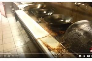Quardate in che condizione è la cucina di questo ristorante cinese.