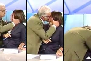 Tgr Puglia, Gene Gnocchi come Benigni: bacia la conduttrice in diretta