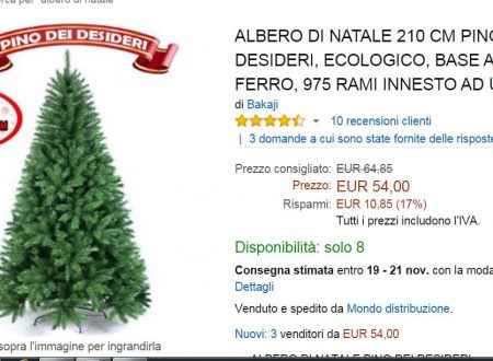 """Offerte in Addobbi e decorazioni per ricorrenze : Decorazioni natalizie : """"albero di natale"""""""