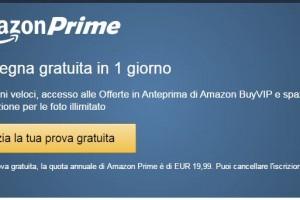 Prova gratuita di 30 giorni Amazon Prime: