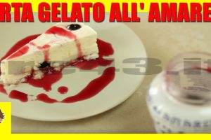 TORTA GELATO ALL' AMARENA Ricetta Facile – Sweet Cherry Ice Cream Cake Recipe