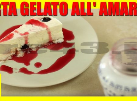 TORTA GELATO ALL' AMARENA Ricetta Facile – Sweet Cherry Ice Cream Cake Recipe