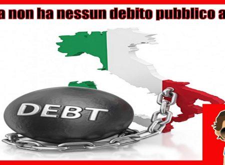 L'Italia non ha nessun debito pubblico anzi e' in credito di oltre 1000 miliardi di euro