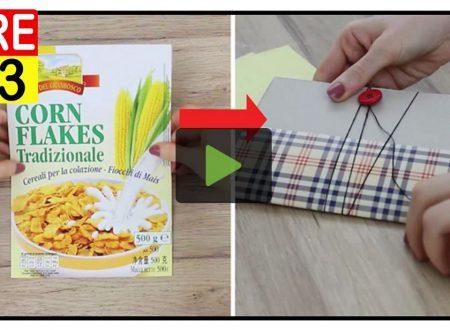 Un Quaderno Riciclando La Scatola Dei Cereali