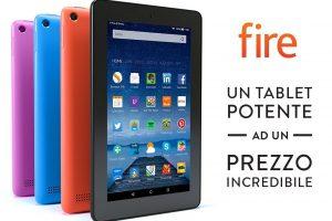 (EUR 59,99 Spedizione GRATUITA) Tablet Fire, schermo da 7″, Wi-Fi, 8 GB (Nero)