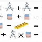 Il test matematico con compasso, gomma e righello: quant'è la somma?