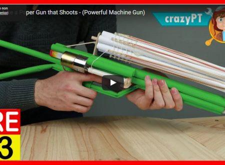 Come costruire una pistola che spara elastici (potente mitragliatrice) – How to Make a Paper Gun that Shoots – (Powerful Machine Gun)