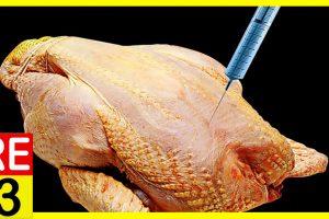 Polli gonfiati con sostanze tossiche. Ecco cosa mangiamo ogni giorno.