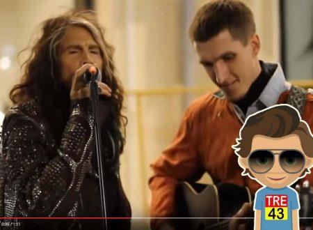Artista Di Strada Canta Gli Aerosmith, Ma Non Sa Che Steven Tyler è Dietro Di Lui