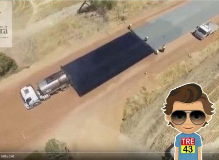Ecco come vengono asfaltate le strade in Australia: ben 5 km in appena 2 giorni