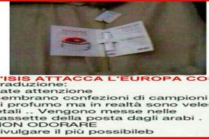 L'ISIS attacca l'Europa così – Non odorare i campioni di profumo..BUFALA