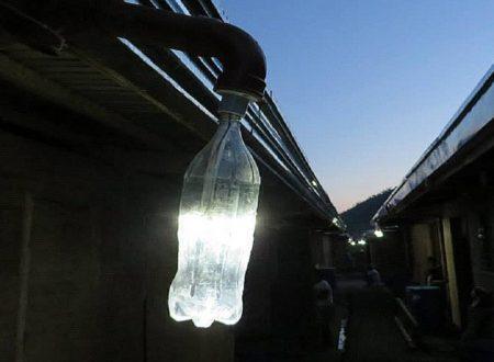 Ecco Come Fare un litro di luce, idea geniale.