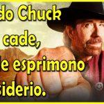 Quando Chuck Norris cade, le stelle esprimono un desiderio.