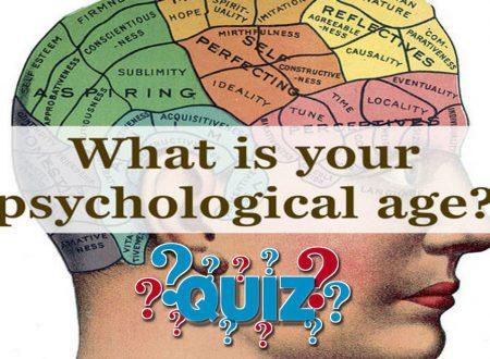 QUIZeTEST – Qual è la tua età psicologica?