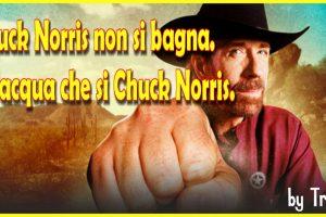 Chuck Norris non si bagna. È l'acqua che si Chuck Norris.