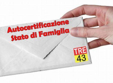 Lettera Modulo – Autocertificazione Stato di Famiglia Precompilato