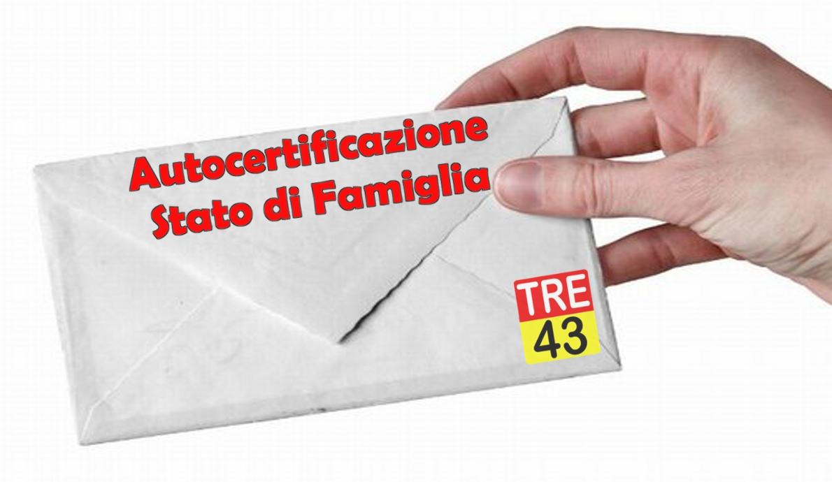 Lettera modulo autocertificazione stato di famiglia - Contestazione bolletta ...