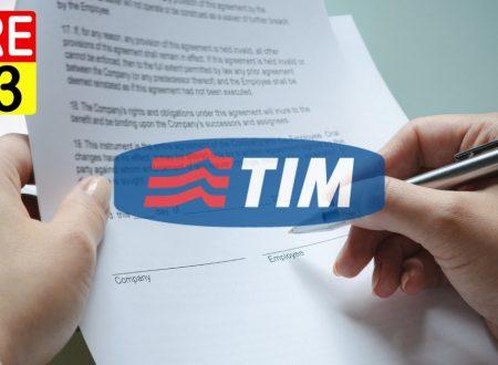 DISDETTA: Modulo disdetta Tim variazioni condizioni contrattuali.