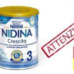 ATTENZIONE – Latte Nestlé Nidina Optipro 3: richiamati due lotti