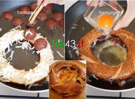 Mettete del Pane del Salame e un Uovo in padella: Una bontà per il palato. (CucinaVideoTutorial)