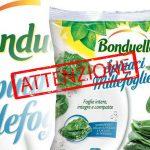 Mandragora in quattro lotti di spinaci surgelati Bonduelle