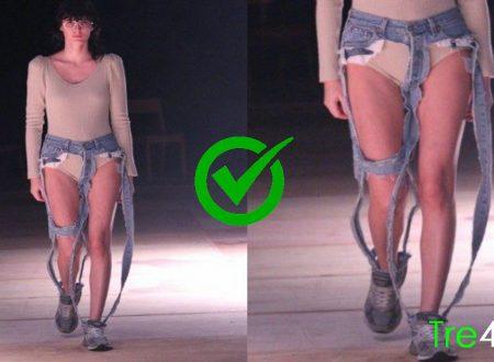 Arrivano i jeans-tanga: solo cuciture e parti intime e lingerie in vista.