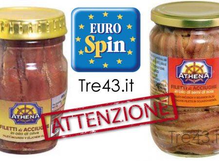 Attenzione: Ministero della Salute ritira un lotto di acciughe Eurospin per istamina.