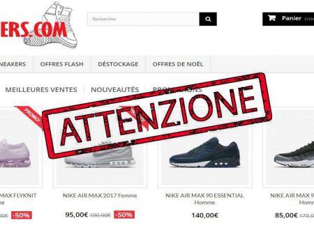 """Attenzione al Sito """" Messneakers.com """" Sospetta Truffa – Occhio!!!"""