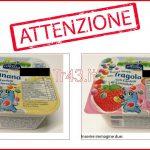 Ritiro per presenza di frammenti di plastica – PASCOLI ITALIANI – Yogurt intero gusto Banana e gusto Fragola