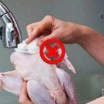 Lo Sapevi che: Lavare il pollo fa aumentare il rischio di infezioni ?