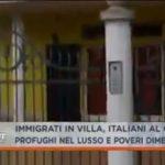 Immigranti in ville e alberghi, Senzatetto italiani al gelo.